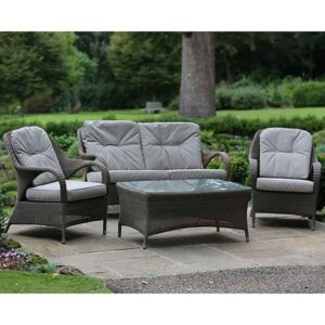 4 Seasons Outdoor Sussex Lounge Suite in Polyloom Taupe