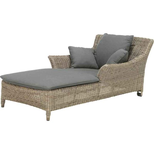 4 Seasons Outdoor Valentine One Seater Sunbed with Cushions