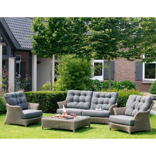 4 Seasons Outdoor - Valentine Relaxing Garden Lounge Suite in Pure
