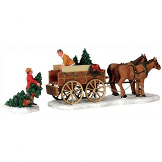 Lemax Christmas Tree Wagon - Set Of 2 Pieces