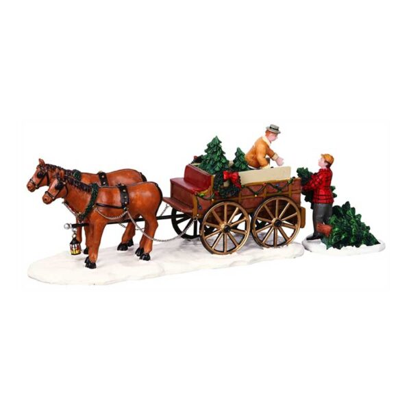 Lemax Christmas Tree Wagon - Set Of 2 Pieces
