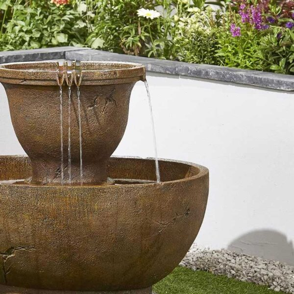 Kelkay Tuscan Pour Water Feature Close Up