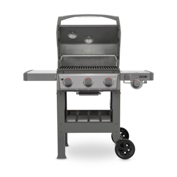 Weber Spirit II S-320 GBS Gas Barbecue (Stainless Steel) with lid open