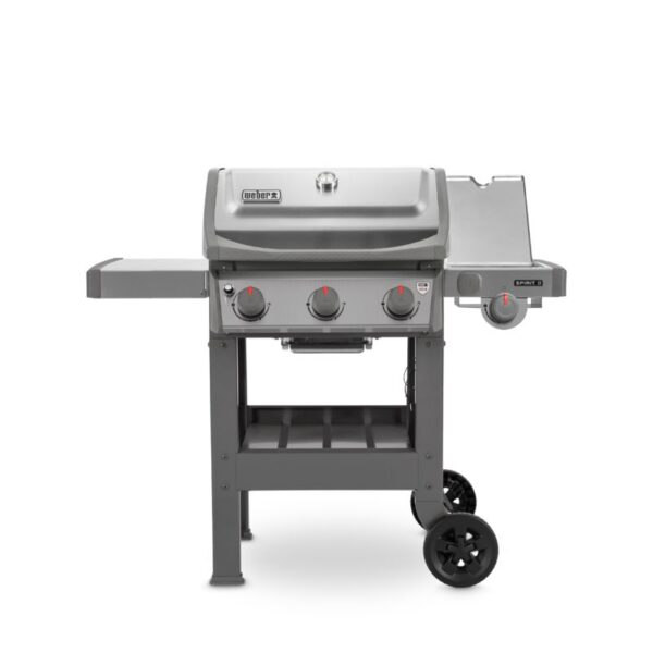Weber Spirit II S-320 GBS Gas Barbecue (Stainless Steel) with side tables