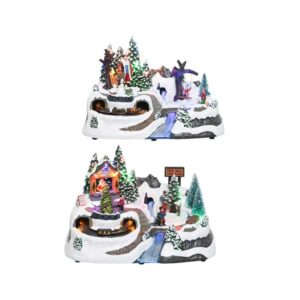 Lumineo Christmas Villages LED Winter Village Scene with Bridge (2 Variety's)