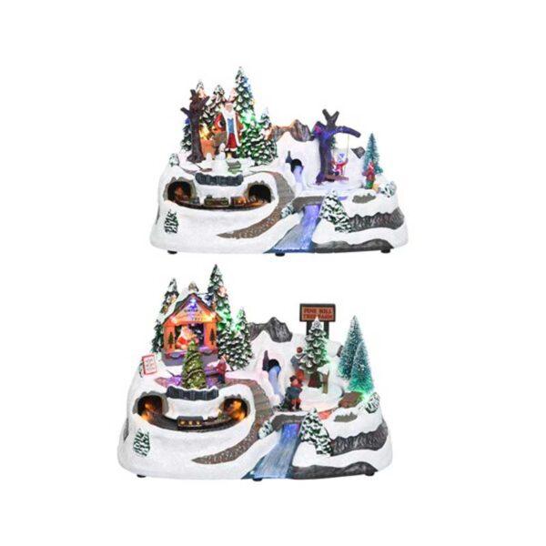 Lumineo Christmas Villages LED Winter Village Scene with Bridge (2 Variety's)