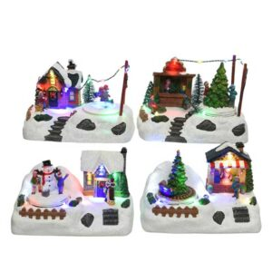 Lumineo Christmas Villages LED Wintry Village Scene (4 Variety's)
