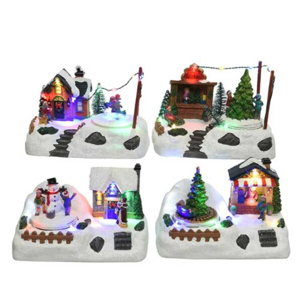 Lumineo Christmas Villages LED Wintry Village Scene (4 Variety's)
