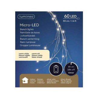 Lumineo Bunch of 60 Warm White micro LED Lights