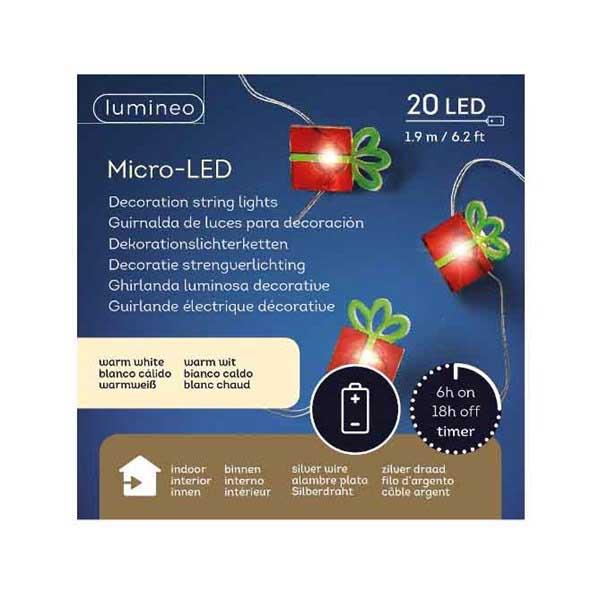 Led Christmas Decorations Indoor.Lumineo String Of 20 Led Decoration Lights