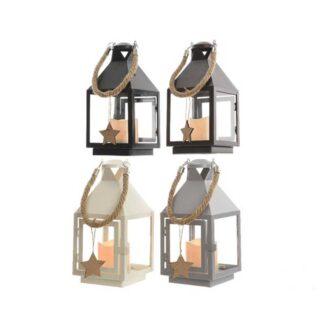 LED metal lantern 4ass ind bo