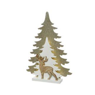 LED deer w tree ind bo
