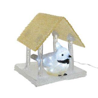 LED Cool White Acrylic Birdhouse