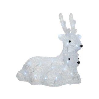 LED Cool White 2 Acrylic Laying Deer