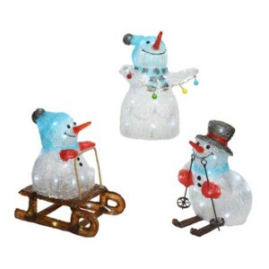 LED Acrylic Cool White Snowman