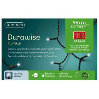 Lumineo String of 96 Cool White Durawise Twinkle LED Lights