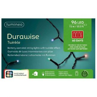 Lumineo String of 96 Multi-Colour LED Durawise Twinkle Lights