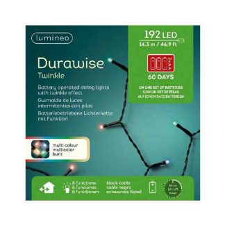 Lumineo String of 192 Multi-Colour LED Durawise Twinkle Lights