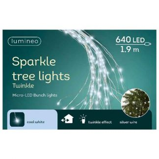 Lumineo Bunch of 640 Cool White micro LED Lights for Indoor Use
