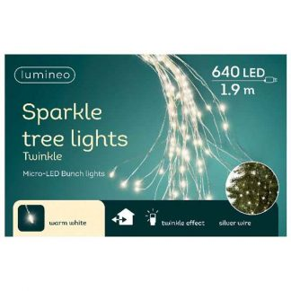 Lumineo Bunch of 640 Warm White micro LED Sparkle Tree Lights