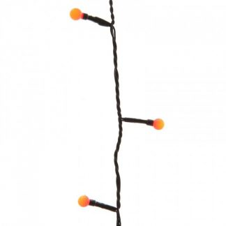 Lumineo String of 80 Red LED Twinkle Cherry Lights