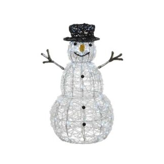 LED Cool White Flashing Acrylic Snowman