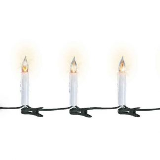 Lumineo String of 15 Flickering Candle Lights