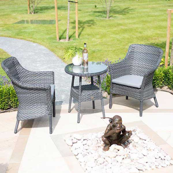 4 Seasons Outdoor - Boston Bistro Set in Graphite