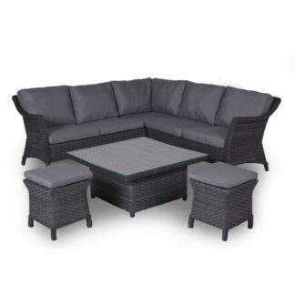 4 Seasons Outdoor - Boston Cosy DIning Set in Graphite (Medium)