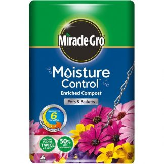 Miracle-Gro Moisture Control Enriched Compost for Pots & Baskets (40 litres)