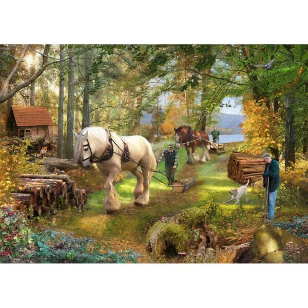 House of Puzzles Horse Power 500 Piece Jigsaw Puzzle