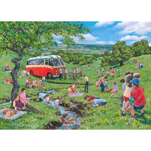House of Puzzles Sunday Picnic Big 250 Piece Jigsaw Puzzle