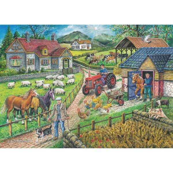 House of Puzzles Barley Mow Farm - Country Collection 250 Big Piece Jigsaw