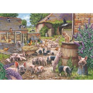 House of Puzzles Piglet Pandemonium - Country Collection 250 Big Piece Jigsaw