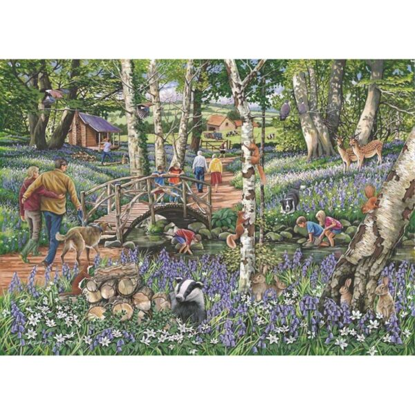 House of Puzzles Walk In The Woods - No. 18 Find the Differences 1000 Piece Jigsaw Puzzle