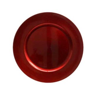 Red Plastic Decorative Plate