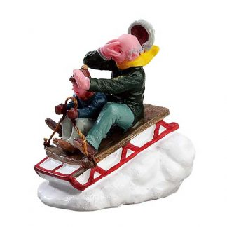 Lemax Sledding with Gramps Figurine
