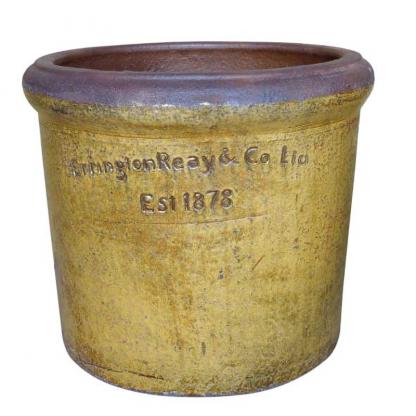 Errington Reay & Co. Ltd Courtyard Rim Planter Old Leather