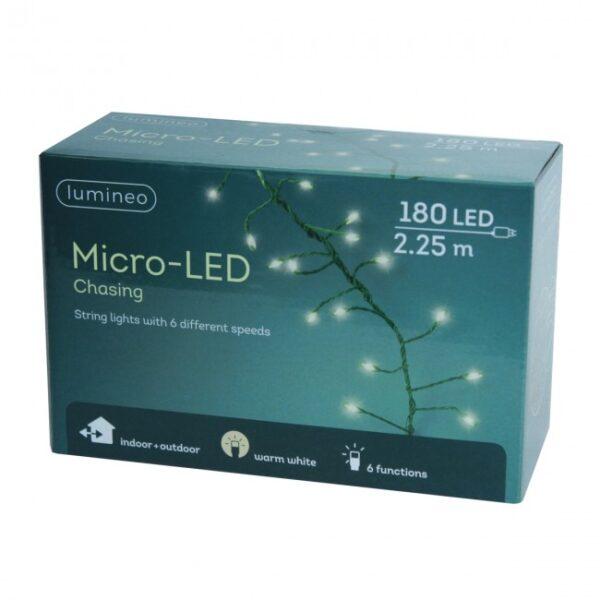 Lumineo String of 180 Warm White Chasing LED Lights
