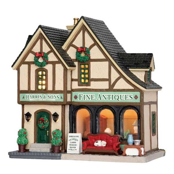 Lemax Harris & Sons Fine Antiques Lighted Building