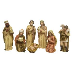 7 Figures Nativity Scene Set