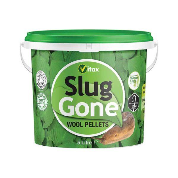Vitax Slug Gone Wool Pellets - 5 litre Tub