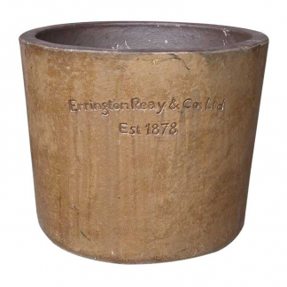 Errington Reay & Co. Ltd Courtyard Round Planter Old Leather