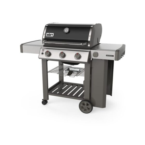Side profile of Weber Genesis II E-310 GBS Gas Grill Barbecue (Black)