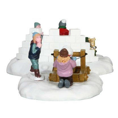 Lemax Snowball Surprise - Set Of 2 Figures