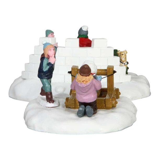 Lemax Snowball Surprise - Set Of 2 Figures