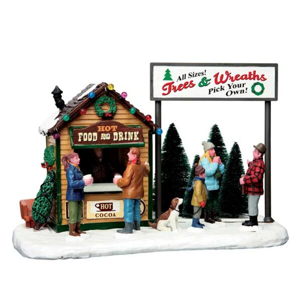 Lemax Trees & Wreaths Lot
