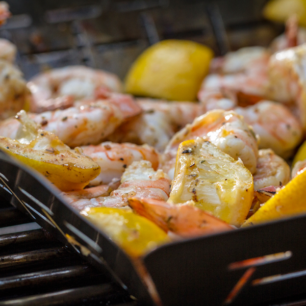 Keep every morsel when you cook with the Weber Deluxe Grilling Basket - Square (Stainless Steel)