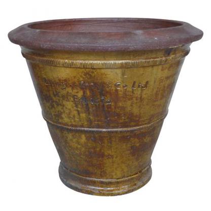 Errington Reay & Co. Ltd Courtyard Cone Planter Old Leather