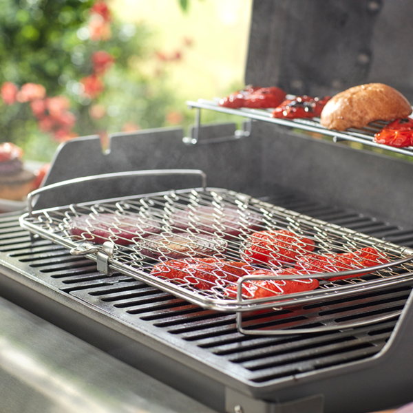 Cook with the Weber Grilling Basket - Large (Stainless Steel)